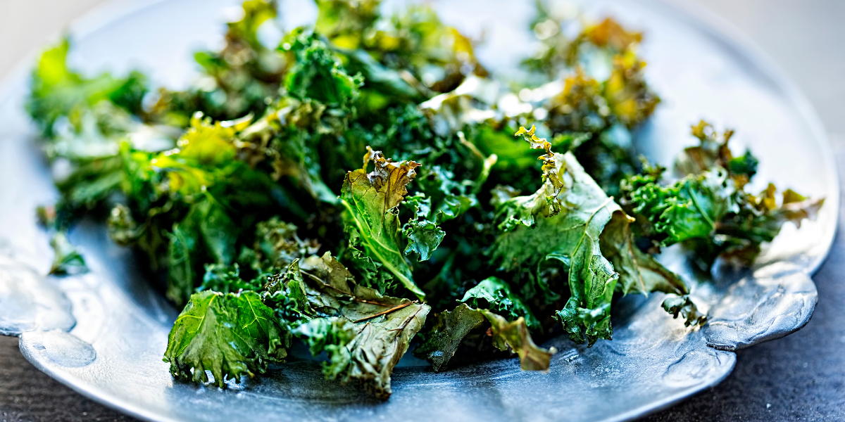 Picture of oven-crisped kale on a plate
