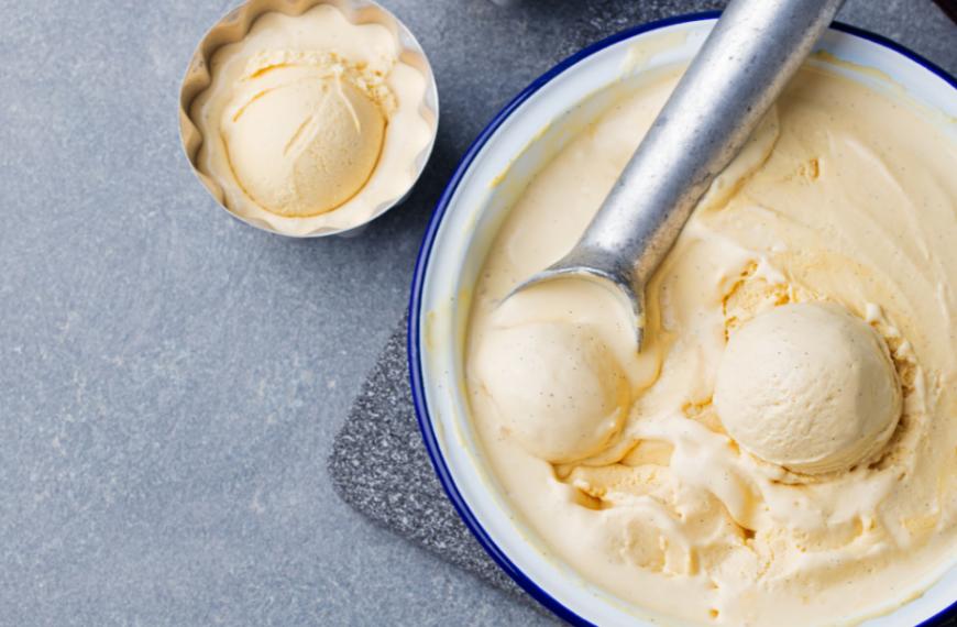 Homemade Rosemary Ice Cream