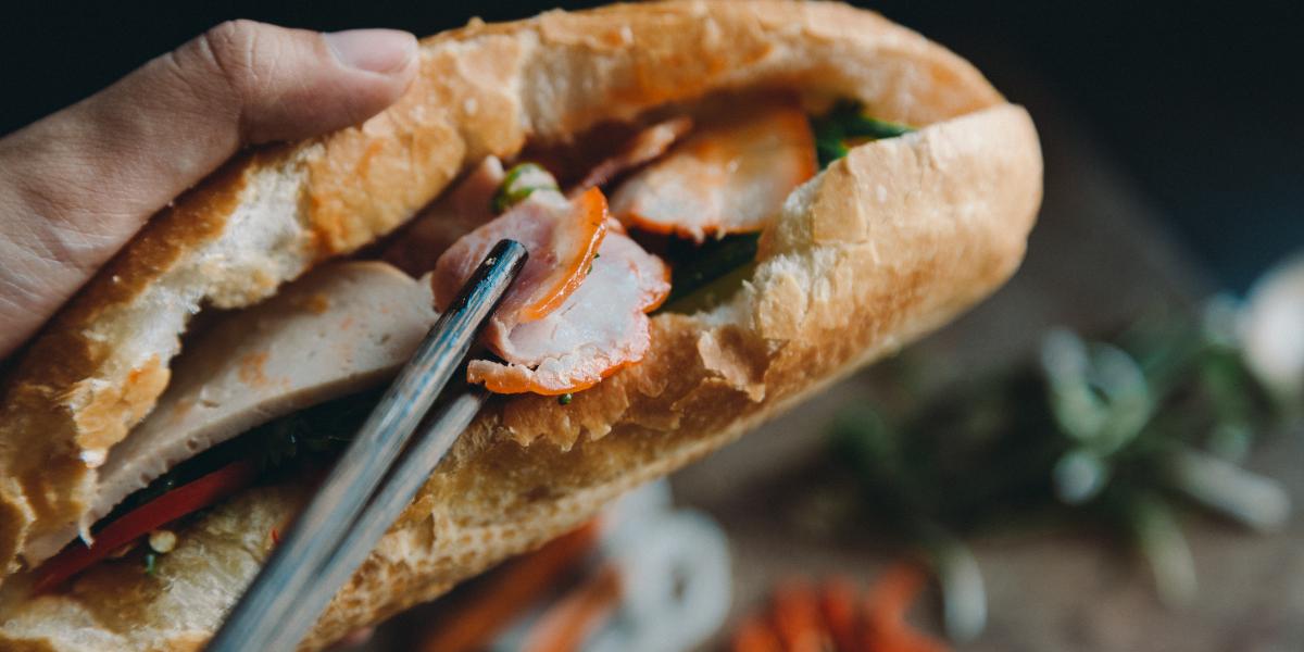 Photo of a Bahn Mi sandwich